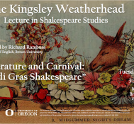 Kingsley Weatherhead Lecture in Shakespeare Studies: Richard Rambuss