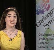 2018 Undergraduate Symposium-student interviews: Elmira Louie