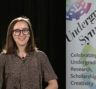 2018 Undergraduate Symposium-student interviews: Hannah Lewman